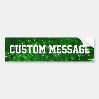 Geknisterter Glasstrudel-Entwurf - grüner Smaragd Autoaufkleber