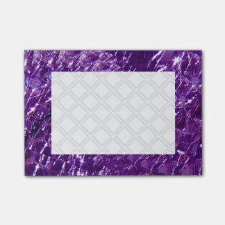Geknisterter Glasstrudel-Entwurf - lila Amethyst Post-it Klebezettel
