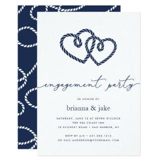 Geknotete Herz-Verlobungs-Party Einladung