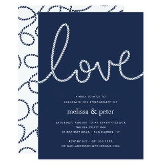 Geknotete Liebe-Verlobungs-Party Einladung