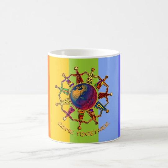 Gekommene zusammen Leute | chakren Farben Kaffeetasse