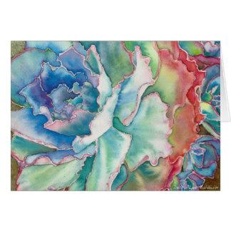 Gekräuseltes Echeveria Aquarell durch DLB Mitteilungskarte