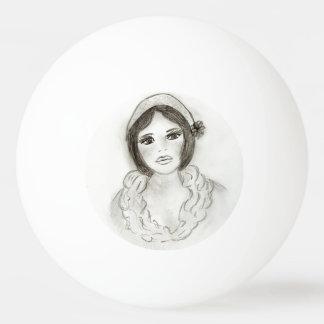 Gekräuseltes Prallplatten-Mädchen Ping-Pong Ball