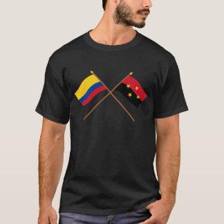 Gekreuzte Flaggen Kolumbien- und Nortedes T-Shirt