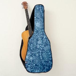Gekritzel auf Denim-Gitarren-Entwurf Gitarrentasche