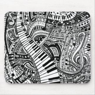 Gekritzel der klassischen Musik mit Mousepad