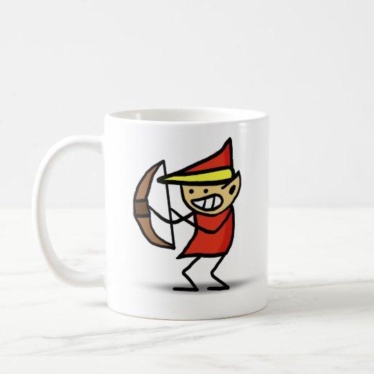 Gekritzel-Feuer-Elf des Zauberer-101 Kaffeetasse