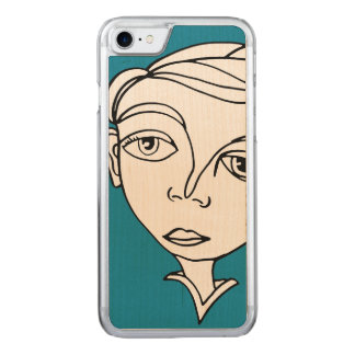 Gekritzel-Gesicht Carved iPhone 8/7 Hülle