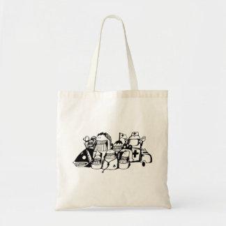 Gekritzel-Tasche Bag_Emergency Tragetasche