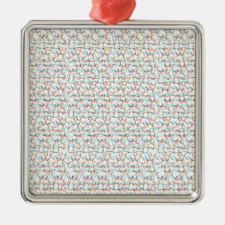 Gekritzelte Einhörner Silbernes Ornament