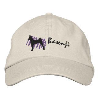 Gekritzeltes Basenji Bestickte Kappe