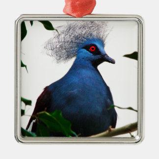Gekrönte Taube Silbernes Ornament