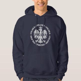 Gekröntes Eagle Symbol Polens Polska Hoodie