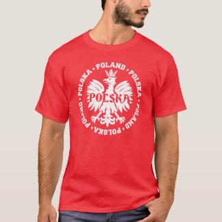 Gekröntes Eagle Symbol Polens Polska T-Shirt