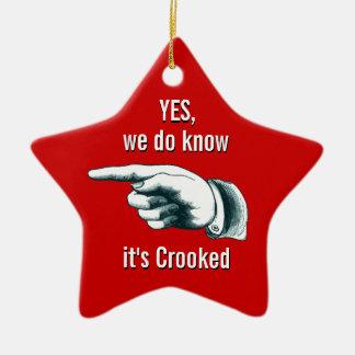 Gekrümmte Weihnachtsbaum-Geschenk-Verzierung Keramik Ornament