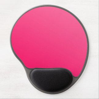 Gel noir rose lumineux au néon chaud Mousepad Tapis De Souris Gel