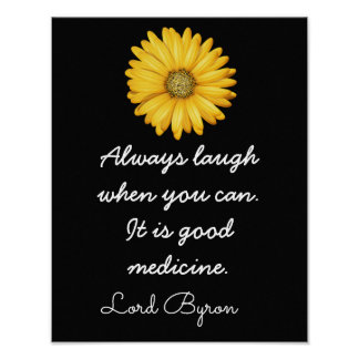 Gelächter-gute Medizin -- _Kunst Print_ Poster