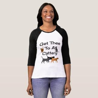 Gelangen Sie Thee an ein Cattery-Shirt T-Shirt