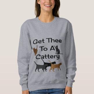 Gelangen Sie Thee an ein Cattery-Sweatshirt Sweatshirt