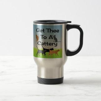 Gelangen Sie Thee an eine Cattery-Reise-Tasse Reisebecher