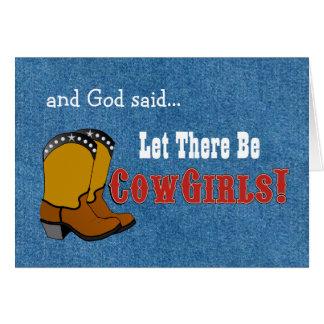 Gelassen gibt es Cowgirls-Geburtstags-Karte Grußkarte