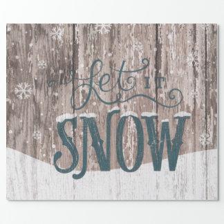 Gelassen ihm schneien einpackpapier