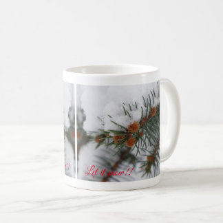 Gelassen ihm schneien immergrüne Tasse 4