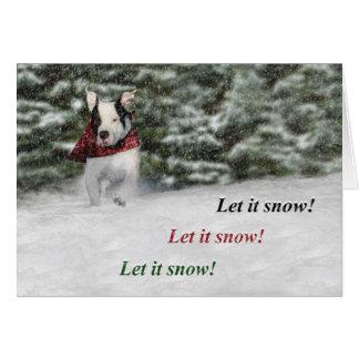 Gelassen ihm schneien karte