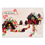 Gelassen ihm schneien Lebkuchen-Feiertags-Karten