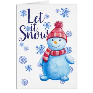 Gelassen ihm schneien personalisiertes karte