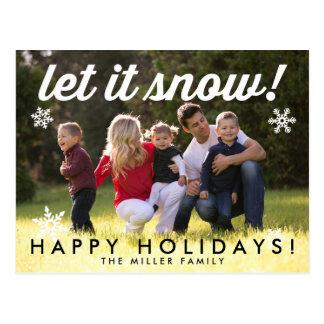Gelassen ihm schneien postkarte