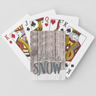 Gelassen ihm schneien Spielkarten des