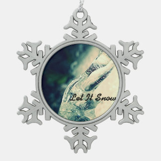 Gelassen ihm schneien Verzierung Schneeflocken Zinn-Ornament