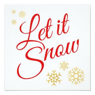 Gelassen ihm schneien Weihnachten Karte
