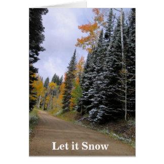 Gelassen ihm schneien Weihnachtskarte Karte