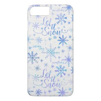 Gelassen ihm schneien Winter-Muster iPhone 8 Plus/7 Plus Hülle