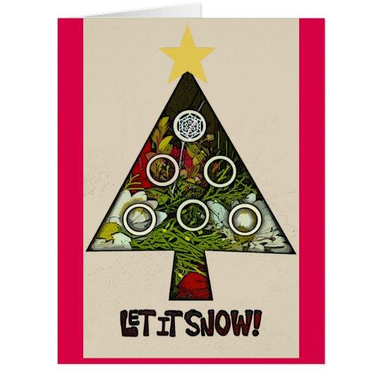 Gelassen ihm schneien WinterFerienzeit-Grußkarte Riesige Grußkarte