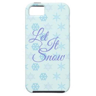 Gelassen ihm seien Sie Snowy-Weihnachten Hülle Fürs iPhone 5