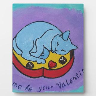 Gelassen mir seien Sie Ihr Valentine Fotoplatte