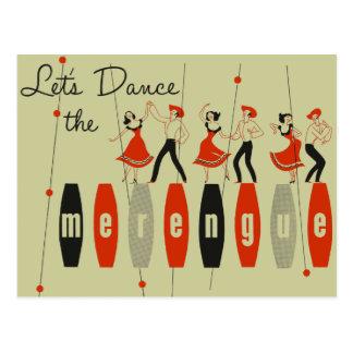 Gelassen uns das Merengue tanzen Postkarte