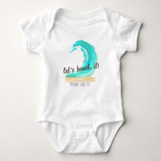 Gelassen uns es auf den Strand setzen Baby Strampler