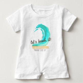 Gelassen uns es auf den Strand setzen! Baby Strampler