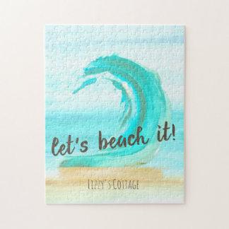 Gelassen uns es auf den Strand setzen Puzzlespiel