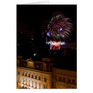 Gelassen uns feiern Sie: Dayton-Feuerwerke Karte