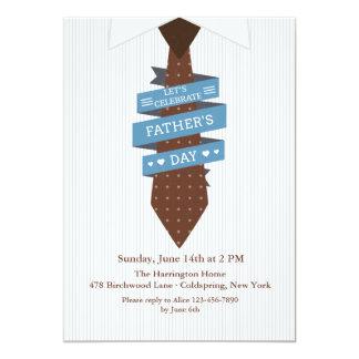 Gelassen uns feiern Sie der Vatertags-Einladung 12,7 X 17,8 Cm Einladungskarte
