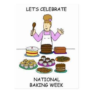 Gelassen uns feiern Sie nationale Backen-Woche Postkarte