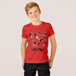Gelassen uns fliegen! - Bremsungs-Roller-Spaß T-Shirt