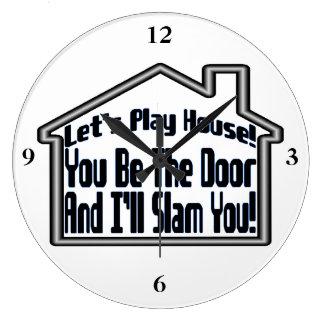 Gelassen uns, Haus schlägt zu spielen u. mir Sie Große Wanduhr