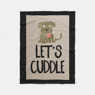 Gelassen uns HundeFleece-Decke streicheln Fleecedecke