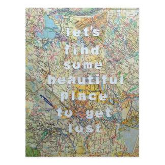 Gelassen uns irgendeine schöne Platz-Postkarte Postkarte